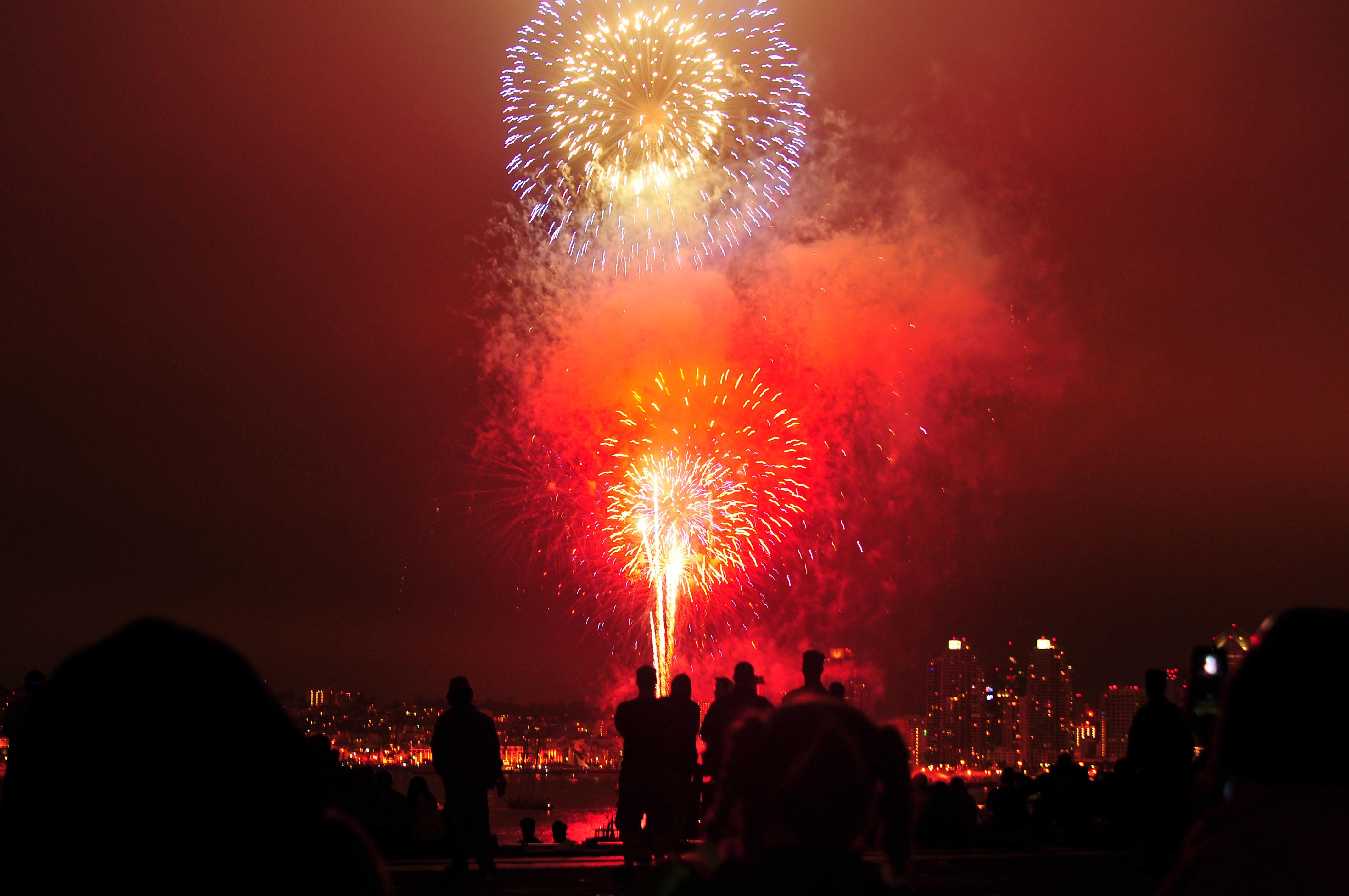moving fireworks